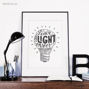 Leave a light on for me, poster A4 Paperfuel 2