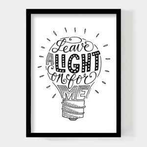 Leave a light on for me, poster A4 Paperfuel 1