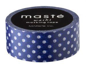 Maskingtape blauw met witte stip Masté
