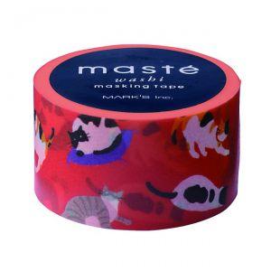 Maskingtape rood poezen en katten Maste