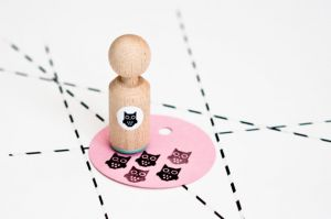 Mini stempel uiltje, Miss Honeybird 3