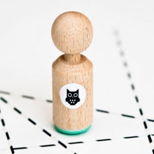 Mini stempel uiltje, Miss Honeybird 1