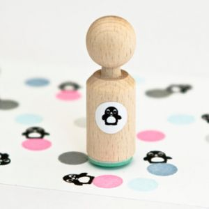 Mini stempel pinguïn, Miss Honeybird 1