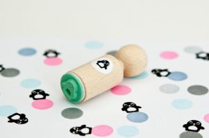Mini stempel pinguïn, Miss Honeybird 4