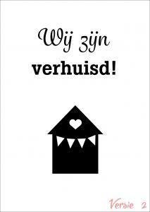 Verhuiskaart versie 2 met eigen tekst / verhuisbericht / housewarming 1