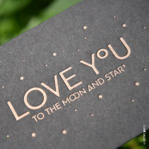Love you to the Moon and the stars (zwart) Letterpers 2