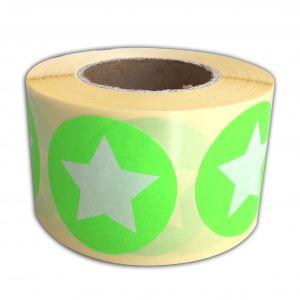Sticker neonrose/neongroen ster 3