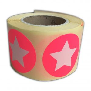 Sticker neonrose/neongroen ster 2