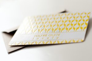 Letterpress card 'You're quite lovely' Eva & Anne 2