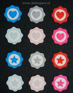 Sticker zilver hart Letterpers 2