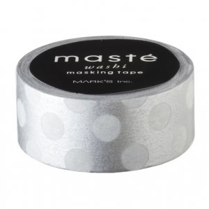 Masking tape in zilver met Polka Dots