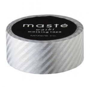 Masking tape in zilver gestreept