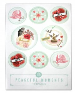 """Pimpelmees stickers """"Peaceful moments"""""""