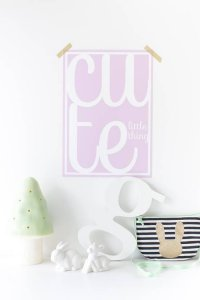 Sparkling Paper poster A4, Cute Little Thing Pink 2