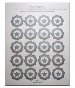 Sticker zilver ster Letterpers 1