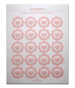 Sticker lichtrose hart Letterpers 1