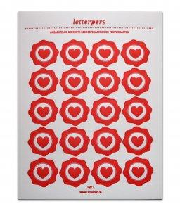 Sticker rood hart Letterpers 1