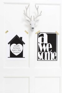 Sparkling Paper poster A3, Awesome zwart/wit 2