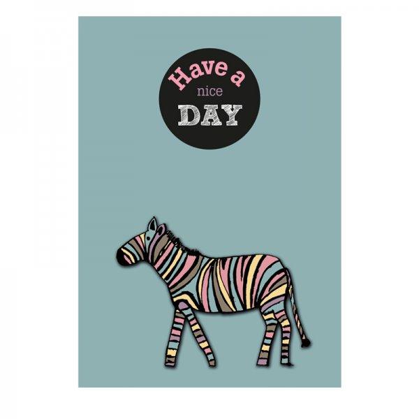 """Have a nice day"" kaart zebra LVP"