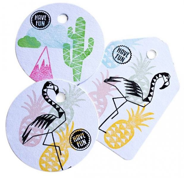 Stempel Flamingo (groot), Miss Honeybird