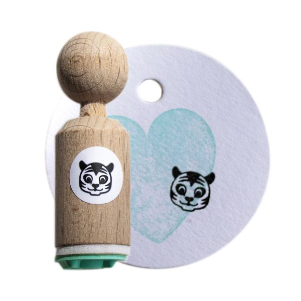 Mini stempel tijgertje Miss Honeybird