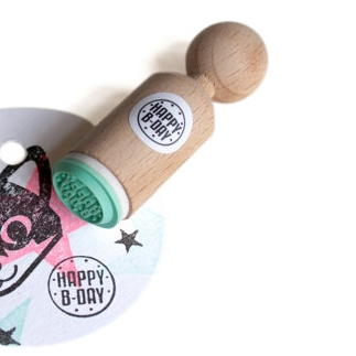 "Mini stempel ""Happy B-Day"" Miss Honeybird"