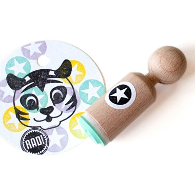 Mini stempel ster in rondje Miss Honeybird