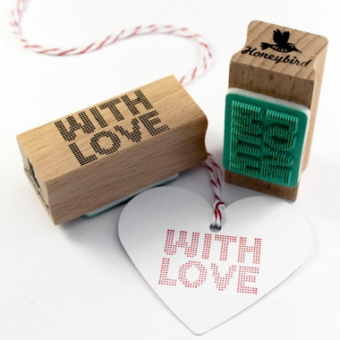"Stempel ""With Love"" raster Miss Honeybird"