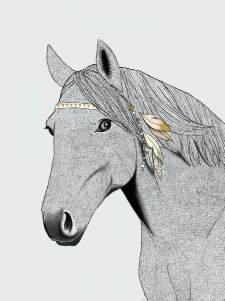 A5 of A6 Kaart paard, Minimel