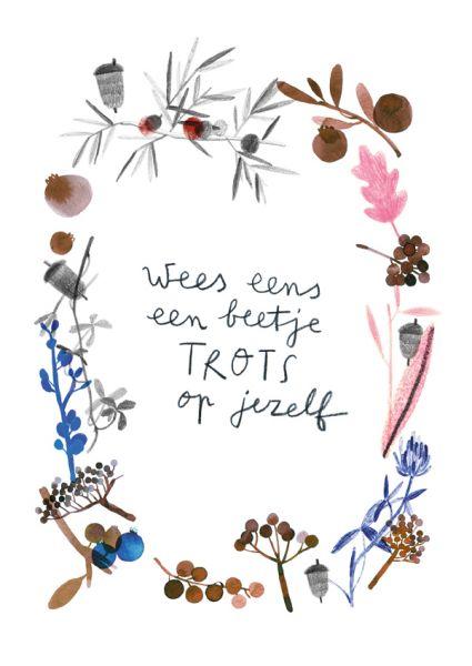A4 poster Trots op jezelf Ruth Hengeveld