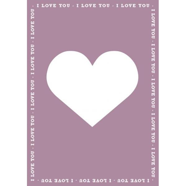 """A6 Kaart """"I love you"""" LVP"""