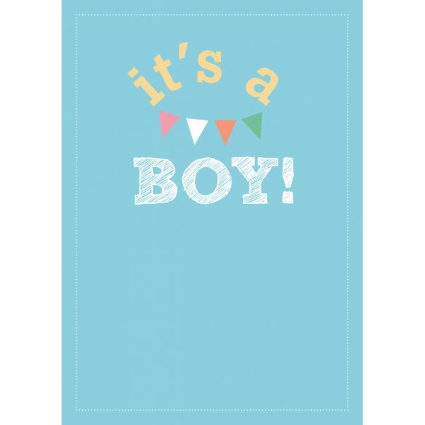 """A6 Kaart """"It's a boy"""" LVP"""