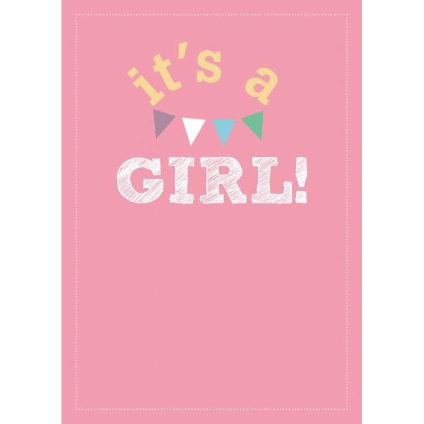 "A6 Kaart ""It's a Girl"" LVP"