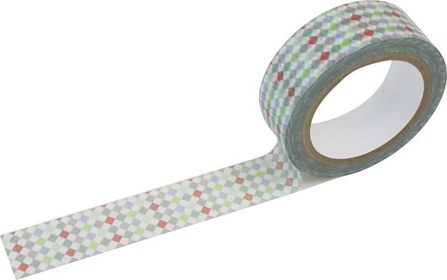 Masking tape mini ruitjes gekleurd Shinzi Katoh
