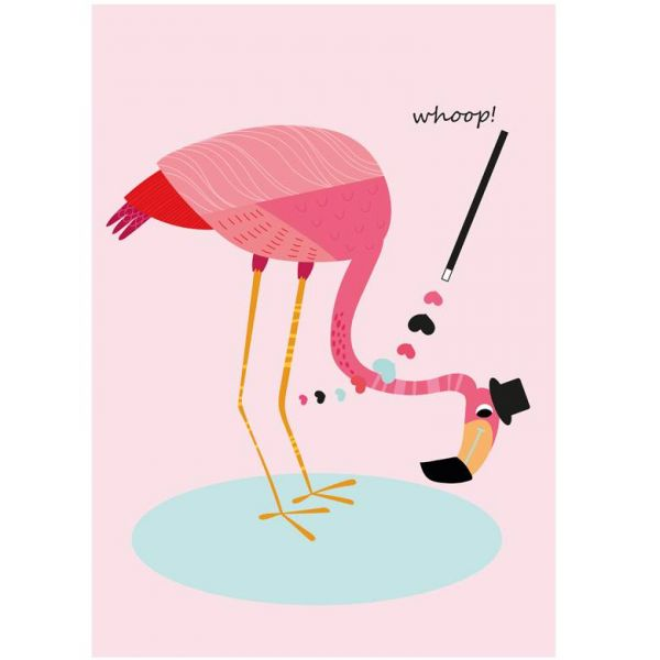 A3 Poster flamingo whoop Sparkling Paper