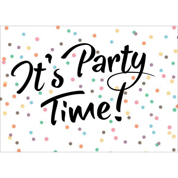 Gepersonaliseerde kaart, Party Time voor jouw, uitnodiging of feestje