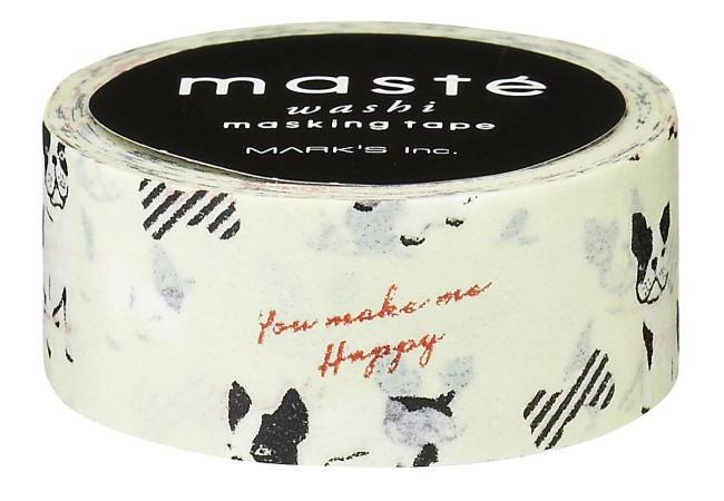 Maskingtape hondje-bulldog-strikje Masté