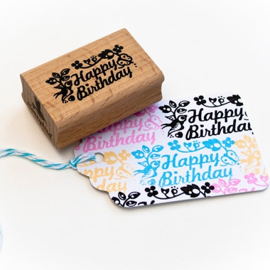 Happy Birthday stempel Miss Honeybird