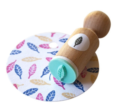 Mini stempel blaadje, Miss Honeybird