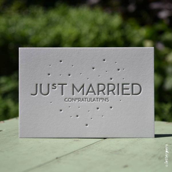 Just Married kaart Letterpers