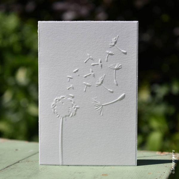 Letterpers kaart paardenbloem pluis
