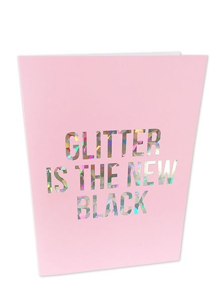 Glitter is the new black kerstkaart Studio Stationery
