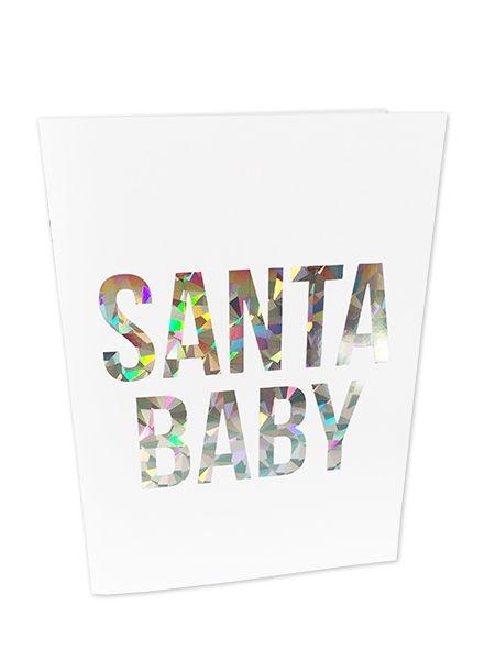 Santa baby kerstkaart Studio Stationery