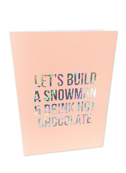 Let's build a snowman kerstkaart Studio Stationery
