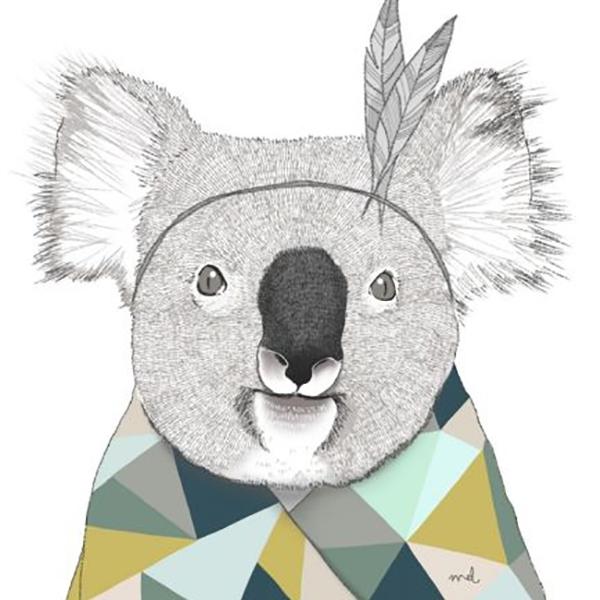 A3 poster koala Minimel