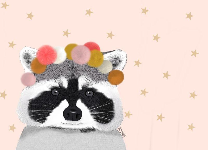 A3 poster wasbeer pompon Minimel
