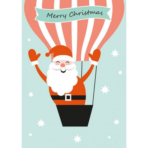 Kerstkaart kerstman Sparkling Paper