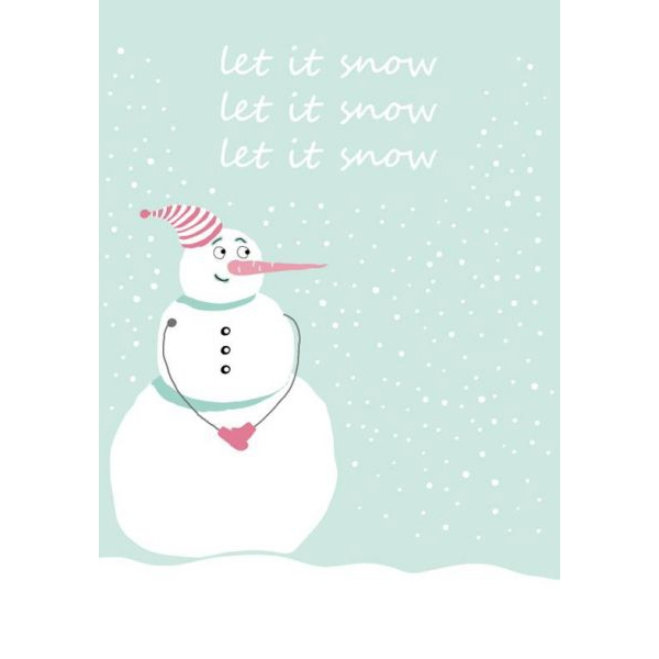 (Kerst)kaart let it snow Sparkling Paper