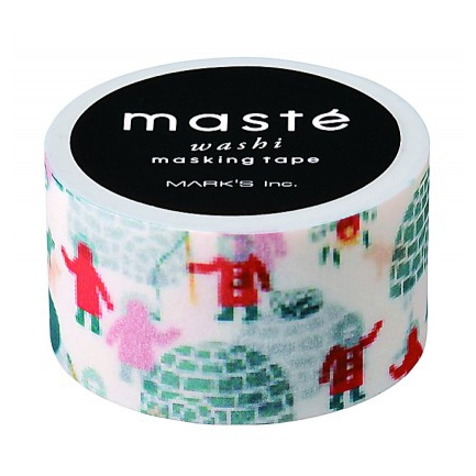 Winter maskingtape iglo Masté