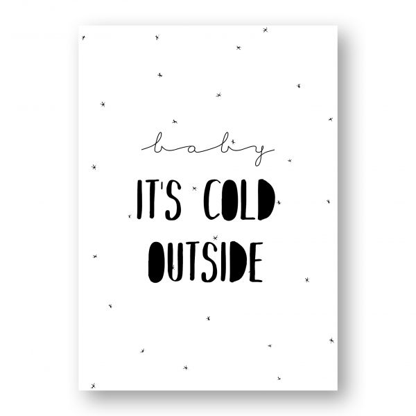 A3 Kerstposter, it's cold outside, MOODZ Design